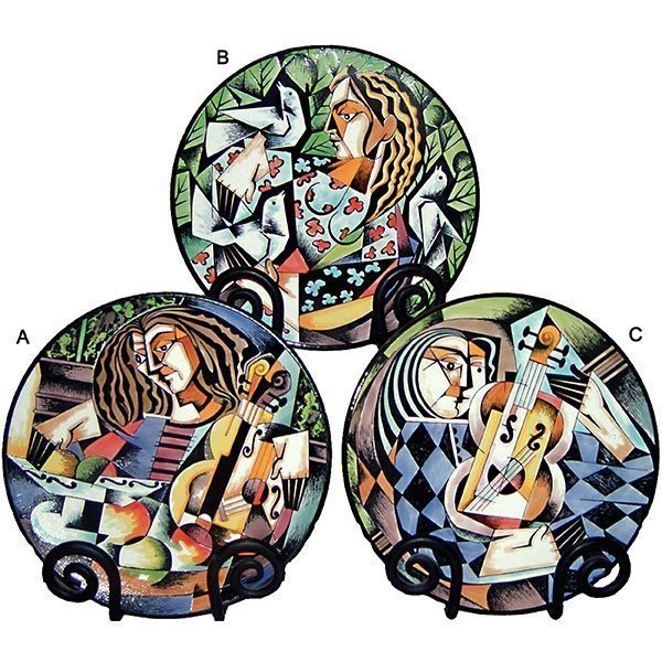 Abstract Jazz Musician Plate