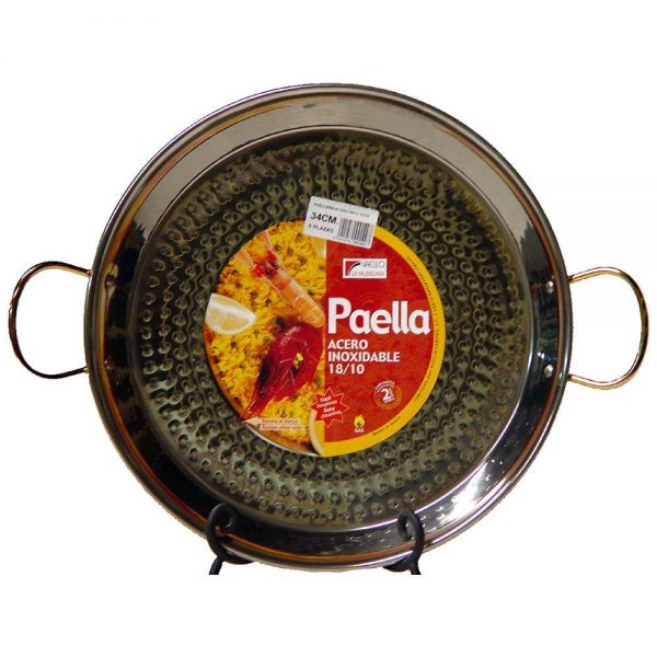17 inch (43 cm) Stainless Steel Paella Pan