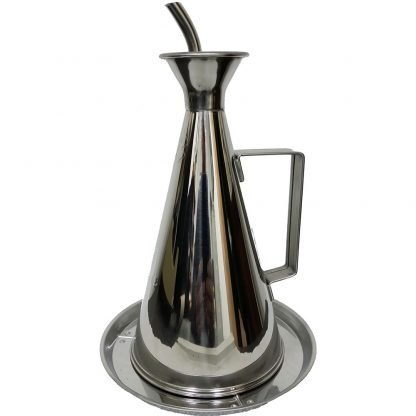 Dripless Stainless Steel Oil Can with Drip Plate