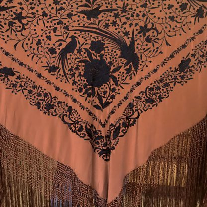 Embroidered Spanish Silk Manton