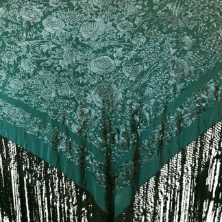 Green Spanish Manton Shawl