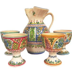 Spanish Ceramic Sangria Pitcher Gift Set
