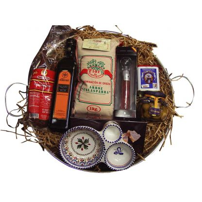 Spanish Paella Gift Set with Paella Pan and Ingredients