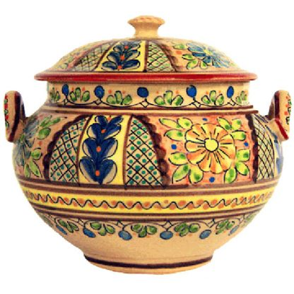 Hand Painted Ceramic Soup Tureen from Spain