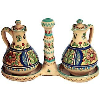 Ceramic Oil and Vinegar Cruet from Spain