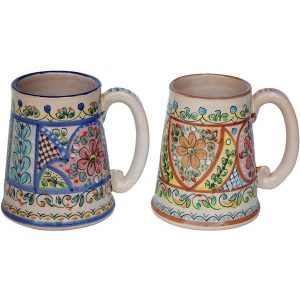 Hand Painted Ceramic Beer Stein