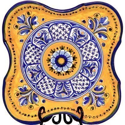 Square Ceramic Plate from Spain