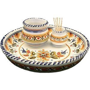 Spanish ceramic olive tray dish