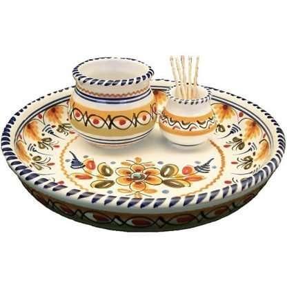 Spanish ceramic olive tray dish