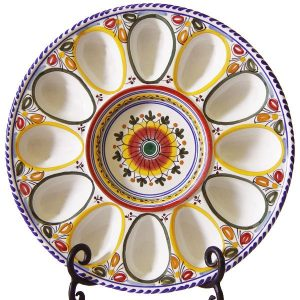 Hand Painted Deviled Egg Plate