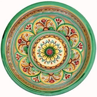 Green Ceramic Serving Bowl Spain