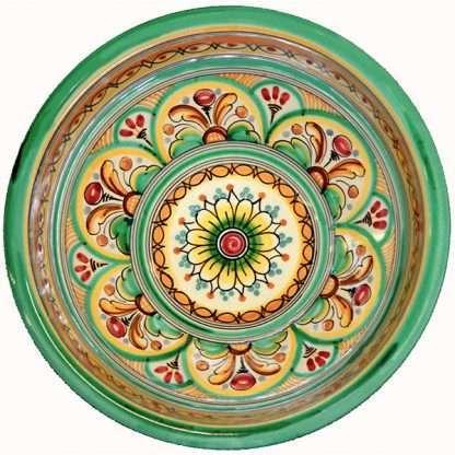 Green Ceramic Serving Bowl Spain