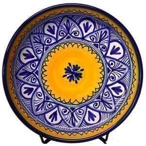 Authentic Ceramic Tapas Plate. Fiesta Yellow