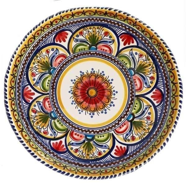 Multicolor 13 inch Plate