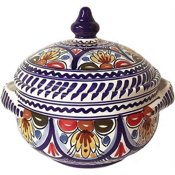 Spanish ceramic soup tureen