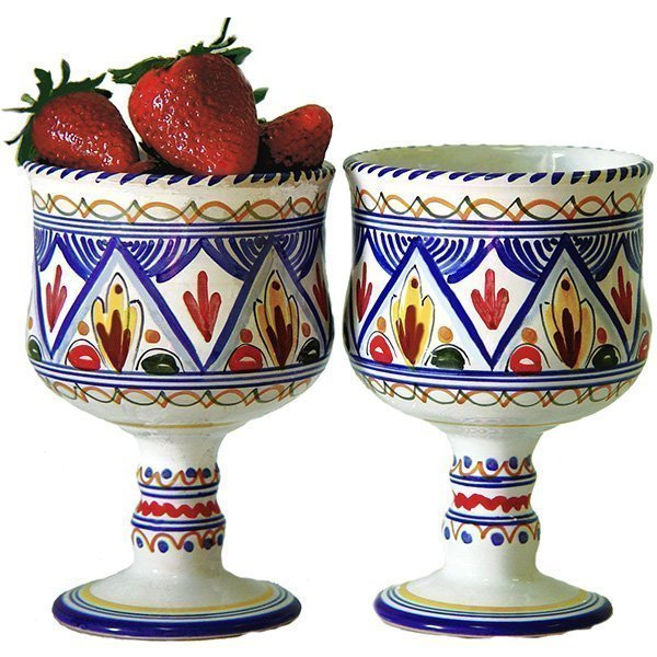 Spanish ceramic sangria glasses from Spain