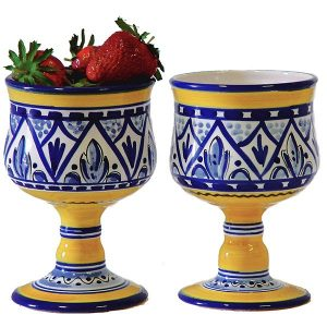 Spanish ceramic sangria glass