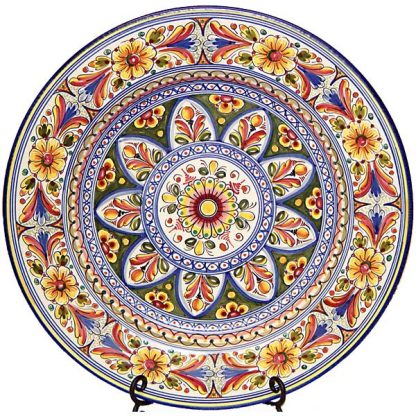 Large Hand Painted Plate from Spain