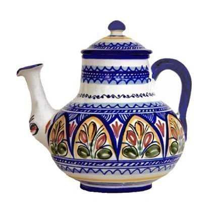 Hand Painted Ceramic Coffee Pot