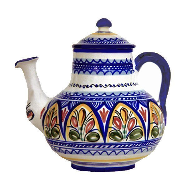 Hand Painted Ceramic Coffee Pot