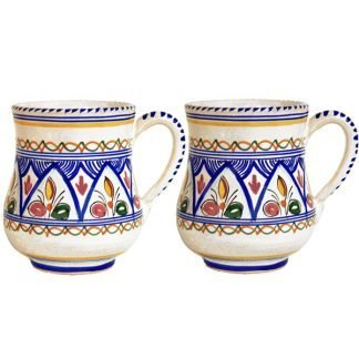 Hand Painted Ceramic Mugs from Spain