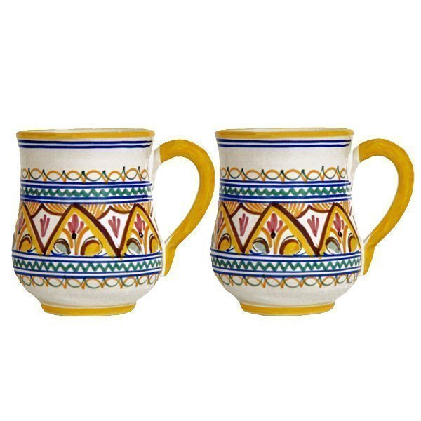 Hand Painted Ceramic Seville Mug from Spain
