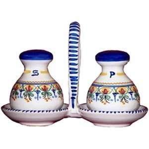 Ceramic Salt and Pepper Set from Spain