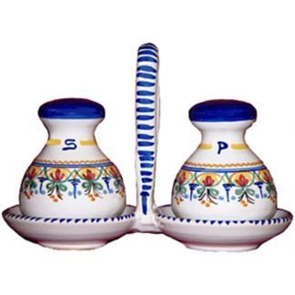 Ceramic Salt and Pepper Set from Spain
