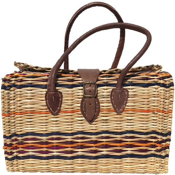 Artisan Wicker and Leather Bag