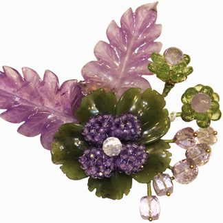 Jade and Amethyst Pin from Spain