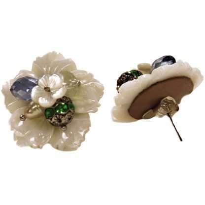 Mother of Pearl Flower Earring