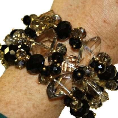 Black Crystal Bracelet from Spain