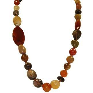 Handmade Carnelian Necklace from Spain