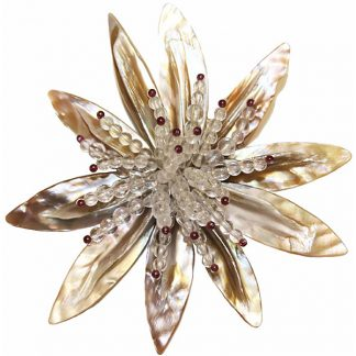 Unique Mother of Pearl Brooch from Spain