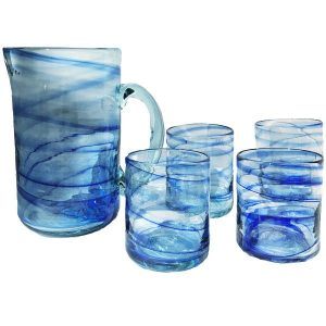 Mallorca Glass Pitcher