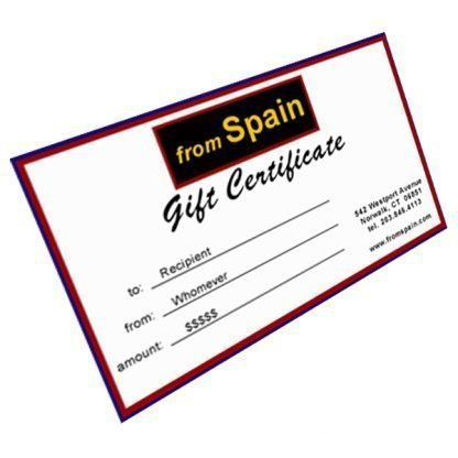 From Spain Gift Certificate