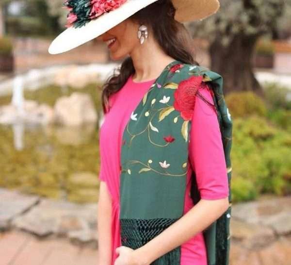 Spanish Silk Manton Shawl