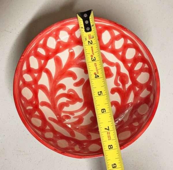 8 inch Red Granada Bowl
