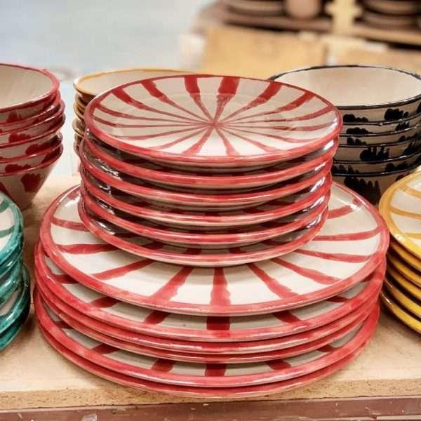 Red Feria Plates