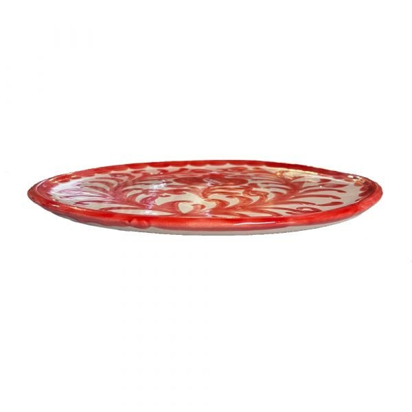 Red Pomegranate Plate Side