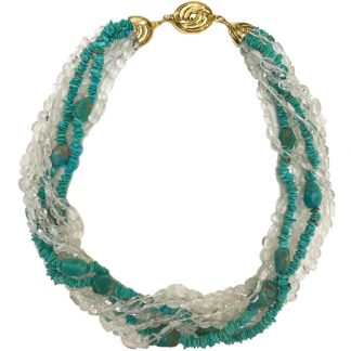 Quartz and Turquoise Necklace