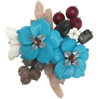 Turquoise and Mother of Pearl Pin