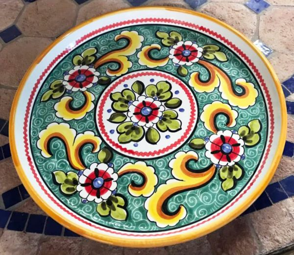 Valencia Turquoise Plate